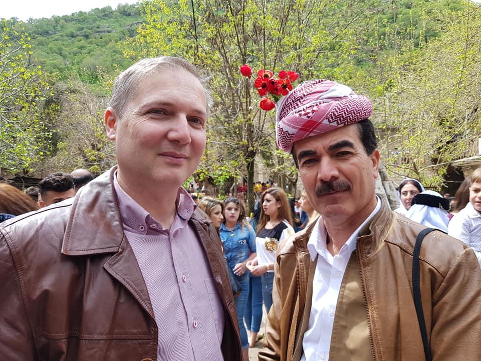 Ο κ. Ευθύμιος Κωστόπουλος, Γενικός Πρόξενος της Ελλάδας στο Erbil, στην Πρωτοχρονιά των Yezidis