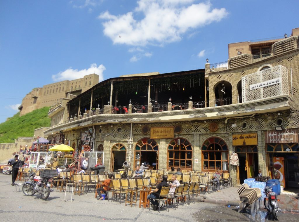 Το παλαιό καφέ στους πρόποδες της Ακρόπολης στο Erbil
