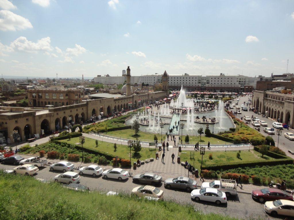 Η κεντρική πλατεία του Erbil, θέα από την ακρόπολη